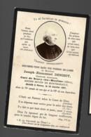 Faire Part Décès Joseph Emmanuel DENIZOT Chanoine Honoraire Curé Neuvy Les Moulins (Allier) Doyen Montmarault 18 01 1897 - Décès