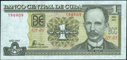 CUBA - 1 Peso 2005 {José Marti} UNC P.121 E - Cuba