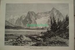 069 Heyn: Sorapiß Misurinasee Dolomiten Riesenbild HS 1891!! - Stampe
