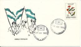 Falkland Islands Cover Las Malvinas Jubilo Popular 28-4-1982 With Cachet - Falkland Islands