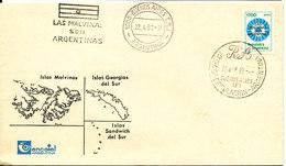 Argentina Falkland Islands Las Malvinas Son Argentinas Cover/FDC 22-4-1982 - Falkland Islands
