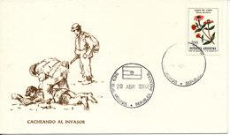 Falkland Islands Cover Las Malvinas Cacheando Al Invasor 28-4-1982 With Cachet - Falkland Islands
