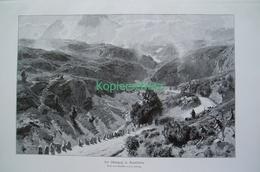 081-4 Ludwig Albulapass Schafherde Riesenbild 1899!! - Gegraveerde Prenten