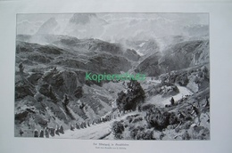 081-4 Ludwig Albulapass Schafherde Riesenbild 1899!! - Estampes