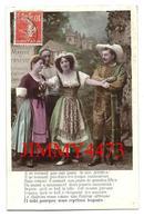CPA - MARCHE DE CORNEVILLE - QUATRE PERSONNAGES + Texte  - Edit. E L D - N° 4395 - Scans Recto-Verso - Marchés