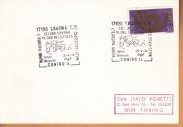 Cartoncino Marcofilo ITALIA 1973 - SAVONA 25/04/1974. - 6. 1946-.. Repubblica