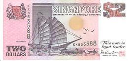 Singapore  P-28  2 Dollars  1992  UNC - Singapour
