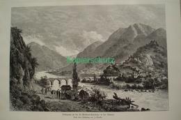089-2 Nieriker Bellinzona Gotthardbahn Riesenbild HS 1891!! - Estampes