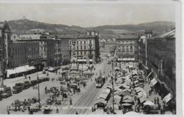 AK 0183  Linz An Der Donau - Franz Josef-Platz Mit Pöstlingberg Um 1936 - Linz