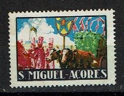 Portugal , AÇORES , AZORES , S. MIGUEL , Old Cinderella , Vieille Vignette - Cinderellas
