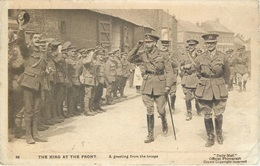WW1 - THE KING AT THE FRONT, DAILY MAIL OFFICIAL PHOTO - POSTED 1918 #84607 - War 1914-18