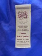 Pub  Chalet De La Porte Jaune , Menu  (cl00) - Autres Collections