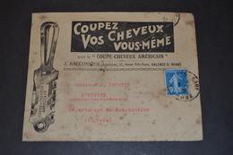 Lettre 1921 VALENCE/RHONE Pour CONSTANTINE Pub Coupe Cheveux Américain - 1921-1960: Modern Period