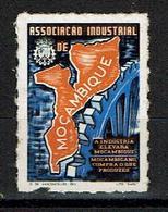 Moçambique , Mozambique , <  1974 , Associação Industrial , Map , Mapa , Cinderella , Vignette - Cinderellas