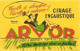 """BUVARD - CIRAGE ENCAUSTIQUE """"ARVOR"""" - LAMBALLE - Illustration - Produits Ménagers"""