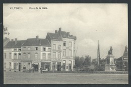 +++ CPA - VILVOORDE - VILVORDE - Place De La Gare - Commerces - Distillerie - Café  // - Vilvoorde