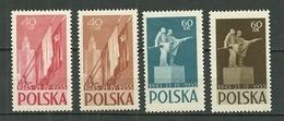 POLAND MNH ** 796-799 ANNIVERSAIRE DU TRAITE POLONAIS SOVIETIQUE D'ASSISTANCE MUTUELLE - 1944-.... République