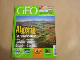 GEO Magazine N° 332 Géographie Voyage Monde Algérie Vanuatu Zaha Hadid Architecture Slow Food Louisiane Indiens USA - Tourisme & Régions