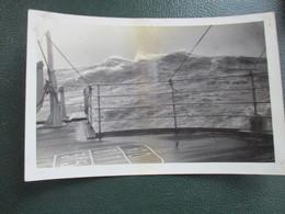 PHOTO  TRANSATLANTIQUE PAQUEBOT  CHERBOURG CALAIS LE HAVRE BATEAU FORMAT CPA - Boats