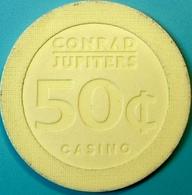 50¢ Casino Chip. Jupiters, Gold Coast, Australia. N74. - Casino