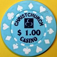 $1 Casino Chip. Christchurch Casino, Christchurch, New Zealand. N74. - Casino