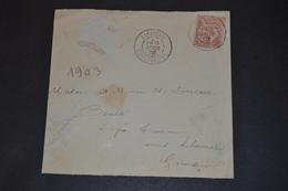 Devant De Lettre 1903 LAFAYETTE CONSTANTINE Pour La Gironde - Marcophilie (Lettres)