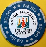 $2.50 Casino Chip. Stellaris, Aruba. N74. - Casino