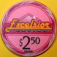 $2.50 Casino Chip. Excelsior, Aruba. N74. - Casino