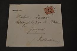 Devant De Lettre 1906 SENAT Rétif Constantine - 1877-1920: Periodo Semi Moderno