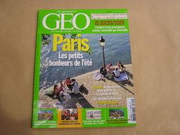 GEO Magazine N° 341 Géographie Voyage Monde Paris Champs Elysées Hazaras Afghanistan Gotland Arméniens Lac Tanganyika - Tourisme & Régions