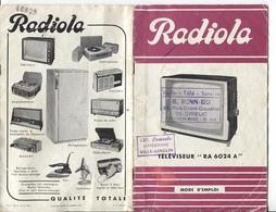 PUBLICITE RADIOLA - TELEVISEUR RA 6024 A - Publicités