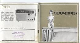 PUBLICITE SCHNEIDER - RADIO TELEVISEURS - Vues Photos Différents Modèles - Publicités