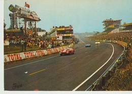 CP - PHOTO - LE MANS - CIRCUIT DES 24 HEURES - VUE D'ENSEMBLE SUR LES STANDS DE RAVITAILLEMENT - 5/318 - TOTAL - SHELL - - Le Mans