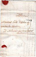 Lettre Linéaire D'AIX 1736  Envoyée à ARDENNE Par Forcalquier - Marcofilie (Brieven)