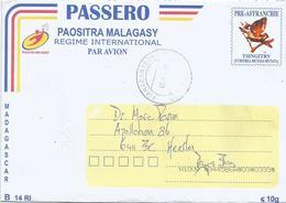 Madagascar 2019 Fianarantsoa B14 RI PAP Endemic Bird Stationary Cover - Madagascar (1960-...)