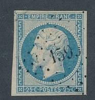 CP-104: FRANCE: N°15 Obl - 1853-1860 Napoléon III