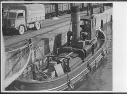 SCENA DEL PORTO - FORMATO 14,50X10,50 - ORIGINALE D'EPOCA FINE ANNI '40 - Barche