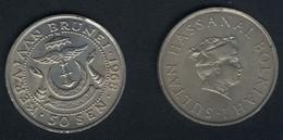 Brunei, 50 Sen 1968, Unzirkuliert, Rar - Brunei
