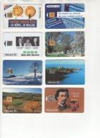 Lot (9) De 8 Télécartes Françaises De 1994 Usagées, Voir Détail Dans Le Descriptif - Frankreich