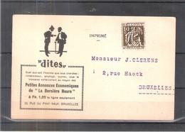 CP Avec Preos De 1933 - Bruxelles L'Eglise Du Sablon (à Voir) - Roller Precancels 1930-..