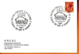 MARCOFILIA ITALIA 1975 - CARTONCINO A.N.C.A.I. TRIESTE 06/06. - 6. 1946-.. Repubblica