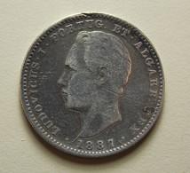 Portugal 200 Reis 1887 Silver - Portugal