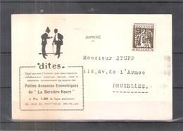 CP Avec Preos De 1933 - Bruxelles L'Eglise Saint-Nicolas (à Voir) - Roller Precancels 1930-..