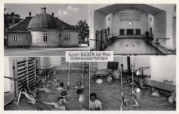 AK - NÖ - Baden - Menschen Bei Der Unterwassertherapie - 1950 - Gmunden