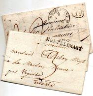 DROME MONTELIMAR  2 Plis 1826 Et 34 - 1801-1848: Precursors XIX