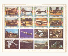Arabie Um El Qrwain, 1973 Feuille Avions - Timbres