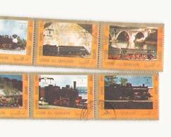 Arabie Um El Qrwain, 1973 Feuille Trains - Timbres