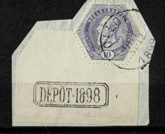 MX-3120      OLLOY+ DEPOT 1898  Met Bladboord             TELEGRAAF UITGIFTE 1880 - 1893-1900 Fine Barbe