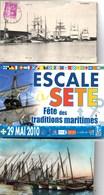 SETE (CETTE) Voiliers + Escale à Sète + Barques De Pêche Au Repos 3 Cartes Dont Une NEUVE Voir Les Scans - Sete (Cette)