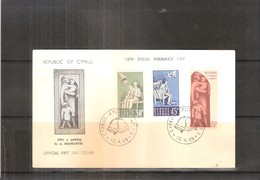 FDC Chypre - New Social Insurance Law - 1965 - Complete Set - Lettres & Documents